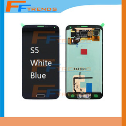 Wholesale Galaxy Home Buttons - High Quality LCD Screen & Digitizer Assembly with Home Button for Samsung Galaxy S5 G900T G900V G900P G900 G900R4 G900A G900F