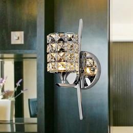 Wholesale Modern Luxury Bathroom - Modern LED K9 crystal wall light Luxury wall sconces Incandescent Bulbs For bathroom wall lights led K9 wall sconces decorative wall light