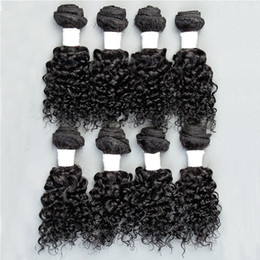 Wholesale Cheap Malaysian Curly - Human Hair Wefts Kinky Curly Brazilian Hair Bundles 8pcs lot Unprocessed Cheap Brazilian Kinky Curly Hair 8 Inch 1B 2# Factory Price