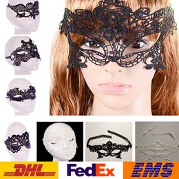 Wholesale Ladies Face Masks - Fashion Sexy Lace Party Masks Women Ladies Girls Halloween Xmas Cosplay Costume Masquerade Dancing Valentine Half Face Mask WX-M03