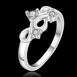 Boîtes à bijoux pour femmes à vendre-Unique Design Women Wedding Rings with Box Forme noire chinoise Féminine Silver Ring Party Engagement Jewelry pour Lady Wholesale Gift RG-067