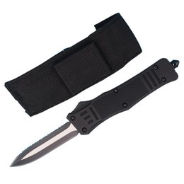 Wholesale Manufacturing Auto - Top Quality Allvin Manufacture Large Size 616 Auto Tactial Knife 440C Double Action Serrated Titanium Blade Outdoor Survival Tactical Gearz