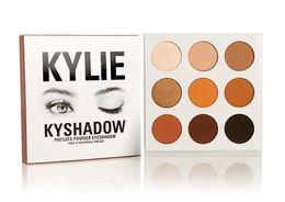 Wholesale Cheap Glitter Eye Shadow - Wholesale cheap Kylie Eyeshadow Cosmetics Jenner Kyshadow Pressed Powder Eye Shadow Kit Palette Bronze Preorder Cosmetic 9 Colors