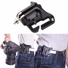 Wholesale Hard Lens Cases - Fast Loading Hanger Video dslr Camera Bag Quick Release Camera Waist Belt Holster Buckle Button Mount Clip for Digital