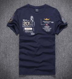 Wholesale Coton T Shirts - 2018 Nouveau hommes D'été 100% coton Air Force One T-shirt Marque aeronautica militare hommes t chemises Hommes Chemise Militaire