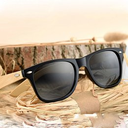 Wholesale Golden Beam - new natural bamboo too glasses handmade bamboo foot glasses Europe and the United States metal nose beam sunglasses