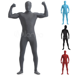 Wholesale Zentai Anime Cosplay Costumes - Wholesale-10 Colors High Quality Adult Kids Mens Halloween Pure Color Cosplay Costumes Lycra Zentai Spandex Costume Full Body Suit XXS-6XL