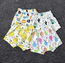 Wholesale Baby Boys Denim Shorts - 27 Styles INS Baby Shorts Toddler Girls Boys Casual PP Pants Animal panda fox geometric figure fruit Pattern Children Shorts Free DHL