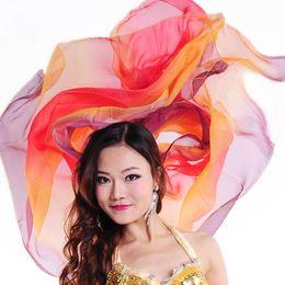 Wholesale Silk Veils For Belly Dancing - Cheap Women Veils Dance Accessories Shawls 2.1 Meters Light Texture Silk Gauze Scarves Silk Chiffon Veil for Belly Dance