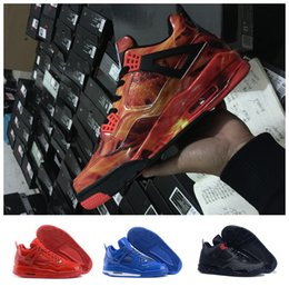 Wholesale Gold Elastic Thread - Newest color Air retro 4 MEN Basketball Shoes men retro 4s Pure Money Royalty White Cement Premium Black Bred Fire Red Sports Sneakers