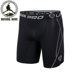 Wholesale compression cycling shorts - Wholesale-[NaturalHome] Brand 2016 Quick Dry Men Base Layer Cycle Tight Skin Compression Sport Shorts Basketball FootBall Running Shorts