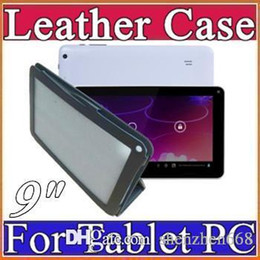 Wholesale Tablet Mid Allwinner A13 - Special Leather Case Stand Cover For 9 inch Android Tablet PC MID Allwinner A13 A20 A23 A33 Actions ATM7021 ATM7029 C-PT
