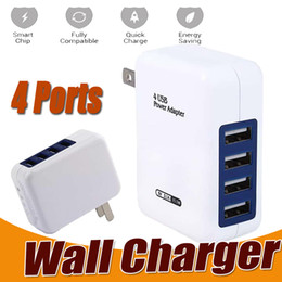 Wholesale Universal Portable Charger - 3.1A 15W High Speed 4 Port USB Wall Charger Portable Travel Charger Power Adapter with Folding Plug for iPhone X 8 7 Plus iPad Android Phone