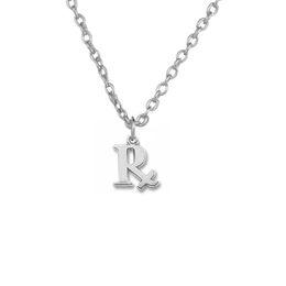 Wholesale Chain Letter R - 2017 new trend necklace 30pcs Zinc Alloy 18k Gold or Rhorium Plated English Letter R Pendant Necklaces Good Luck