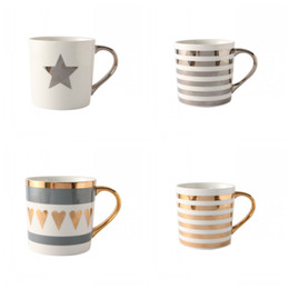 Wholesale Office 13 - Ceramic Coffee Mug Heat Resisting Milk Cup Gold Painting Porcelain Office Tumbler Love Gift 13 5md C R