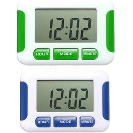 Wholesale Countdown Timer Display - 2015 Hot Sale LCD Display Alarm Clock 5 Groups Noisy Bell 12 24 Hours Countdown Multi Kitchen Timer Desktop Digital Table Clock