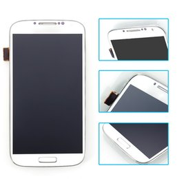 Wholesale Galaxy S4 Digitizer Assembly - For Samsung Galaxy S4 i9505 LCD with Touch Screen Digitizer White color Free shipping 100% GuaranteeScreen Digitizer +frame Assembly