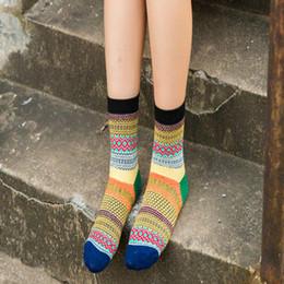 Wholesale-Unisex Stripe Soft Cotton Socks Design Multi-Color Dress Casual Men Women Socks clothing accessories 5 colors от