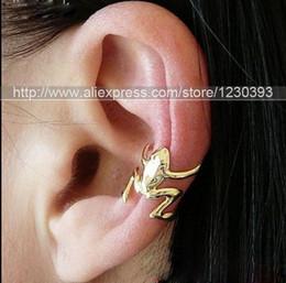 Wholesale Wholesale Ear Cuffs Frog - FASHION NEW UK HOT HOPPING FROG CARTILAGE UPPER HELIX EAR CUFF CLIP-ON EAR-WRAP EMO EARRING 4PCS