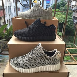 """Wholesale Oxford Lace Up Women Flats - kanye west Boost pirate black oxford tan"""" """"moon rock"""" 350 Running Shoes Footwear Sneakers Men And Women 350 milan Sport Shoe turtle dove"""