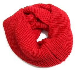 Wholesale Cheap Knitted Scarfs - 18 Colors Hot Winter Scarf Men Women Warm Infinity Scarfs for Women Long Scarf Neckerchief Cheap Scarves Knitted Scarf Plain Fashion Scarves