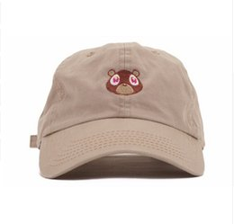 Wholesale Pink Bear Hats - Yeezus Embroidered Glastonbury Unstructured hat Kanye West Ye Bear Dad Cap Unreleased Hat casquette sun caps drake 6 god pray ovo hats