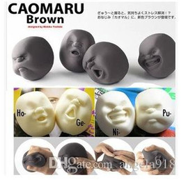 Wholesale Good Outlets - Japanese Gray outlets at balls Hot Selling Vent Human Face Ball Relax ball Anti-stress toys 55*65*65mm EMS shipping E1714