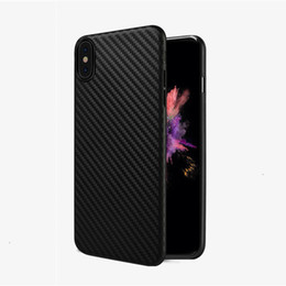 Wholesale Blue Frosting - Thin Carbon Fiber Texture Soft TPU Matte frosted Case for Apple iPhone X 8 7 6S 6 Plus Protection Back cover
