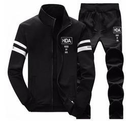 Wholesale Blue Suit Jacket Mens - Mens Sweat Suits Autumn Brand Mens Tracksuits Sets Jogger Jacket + Pants Sporting Suit Hip Hop Sweatshirts Sudaderas Hombre