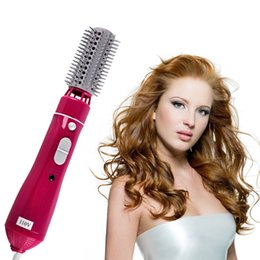 Wholesale Hair Dryer Stick - 10in1 110v-220v 1200W power Multifunctional Hair curlers styling tools hair sticks kinkiness hair dryer machine comb hairdressing tool