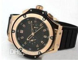 Wholesale Power Tags - Hot selling New Style Fashion men brand watches Lking power gold uxury Mens Automatic wristwatch Black dial