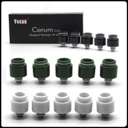 2019 atomizador de hierba seca elips Bobinas de repuesto originales de Yocan Cerum Cuarzo bobinas dobles QDC para vaporizador de cera Yocan Cerum 3 colores disponibles Envío rápido