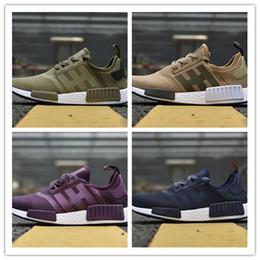 Wholesale Design Tables Cheap - New Design NMD Runner Shoes NMD R1 Triple Black Primeknit Cheap Mens And Womens Hot Sale Running Shoes Sneakers Sports Shoes 36-45