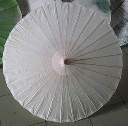 Wholesale Chinese Parasols Wholesale - Diamter 60cm 23.6 Inches Chinese Craft Bamboo Oiled Paper Umbrella Wedding Supplies DIY Painting Paper Parasol