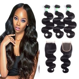Wholesale Mongolian Weave Prices - Indian Body Wave Hair Weaves 3 4 Pcs lot Body Wave Indian Human Hair Weaves Lace Closures With Indian Human Hair Bundles Wholosale price