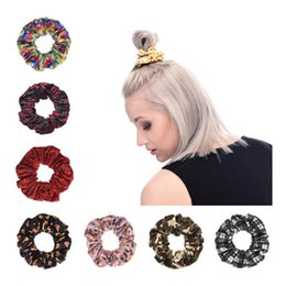Wholesale Hair Elastic Bracelet - Wholesale-Fashion Pretty Knot Elastic Hair Rubber Bands Ponytail Hair rings Bracelets fabric knotted headwear hair accessories A0371