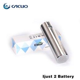 Wholesale Battery Ecigarette - ECigarette Battery Original Eleaf Ijust2 Kit Battery with 2600mah Capacity I Just 2 Chargeable vape mods Suit Ijust 2 Atomizer