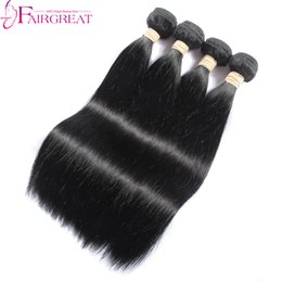 Wholesale Hair Grade Lengths - High Grade Human Hair Straight Hair Weaves Human Brazilian Bundle Hair Extensions Natural Color 4pcs