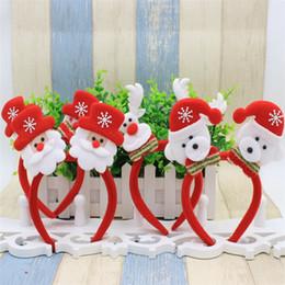 santa piscando Desconto Natal iluminado headbands santa claus hairpin vermelho cabeça hoop fecho natal decorações presentes cabelo banda com led luz piscando b0744