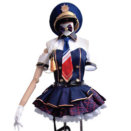 Wholesale Kotori Anime - Wholesale-anime Lovelive Love Live! School Idol Project Kotori Minami Cosplay Police Uniform Costume dress With Hat