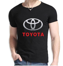Wholesale Hip Hop Cars - Fashion Japan car TOYOTA logo t shirt sportswear hip hop t-shirt men tees casual tshirts free shipping cotton hiphop clothing