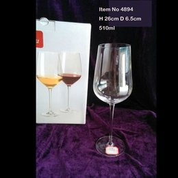 Wholesale Crystal Stems - Goblet Wine Glass Tableware Red Wine Drinking Glass 23oz Capacity Stem Hand Made Perfect for any Red Wines Made of Premiumm Crystal Glass