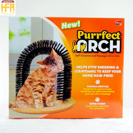 Wholesale Grooming Shedding - Cat Rubbing Brush Scratch Arch Cats Self Grooming Scratch Toys Hair Cleaning Shedding Tool Pet Supplies Brushing Toy