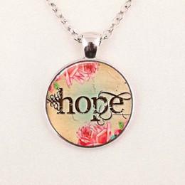 Wholesale Religious Pictures - Wholesale Glass Art Picture Necklace Faith Believe Hope Necklace Religious Christian Jewelry Round Glass Necklace