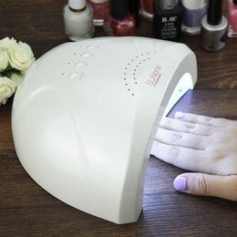 Wholesale Led Curing Lamps - Wholesale-Sunone Professional White Light 48W UV LED Lamp UV Nail Dryer 365+405nm Curing UV Gel LED Gel Nail Polish Nail Art Tool