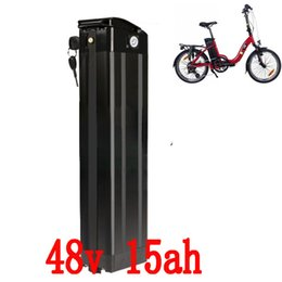 Wholesale Port Electric - 500W 48V Electric Bicycle battery 48V 15AH lithium Silver fish Battery with USB port Bottom Discharge