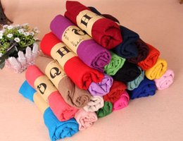 Wholesale Blue Pashminas - Hot Sale 18 Colors Solid Pashmina Linen Scarves Cheap Women's Shawls Plain Ladies Wraps Soft Fringes Autumn Scarf For Girls Size 180*90 CM