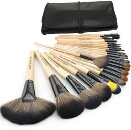 Wholesale Set Brushed 24 Pcs - New Professional 24 pcs Makeup Brushes Set eyebrow eyeshadow blush brushes Make-up Comestic DHL Free Shipping