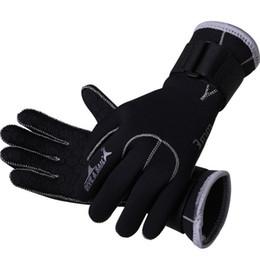 Wholesale 3mm Gloves - 3MM Neoprene Scuba Dive Gloves Swim Gloves Snorkeling Equipment Anti Scratch Keep Warm Wetsuit Material Winter Swim Spearfishing