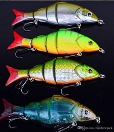Wholesale Big Crankbait - 5 Sections woobbler Fishing Lure saltwater Crankbait 12.8cm 22g 5 segments bass bait with 4# Fishing Hook